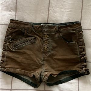Free People Stretchy Denim Shorts